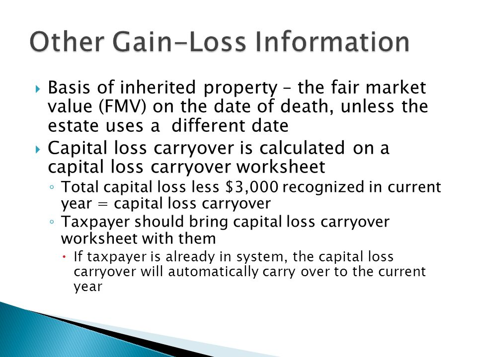 Capital Gainloss Form 8949 And Schedule D Ppt Download. Other Gainloss Information. Worksheet. 2013 Capital Loss Carryover Worksheet At Clickcart.co
