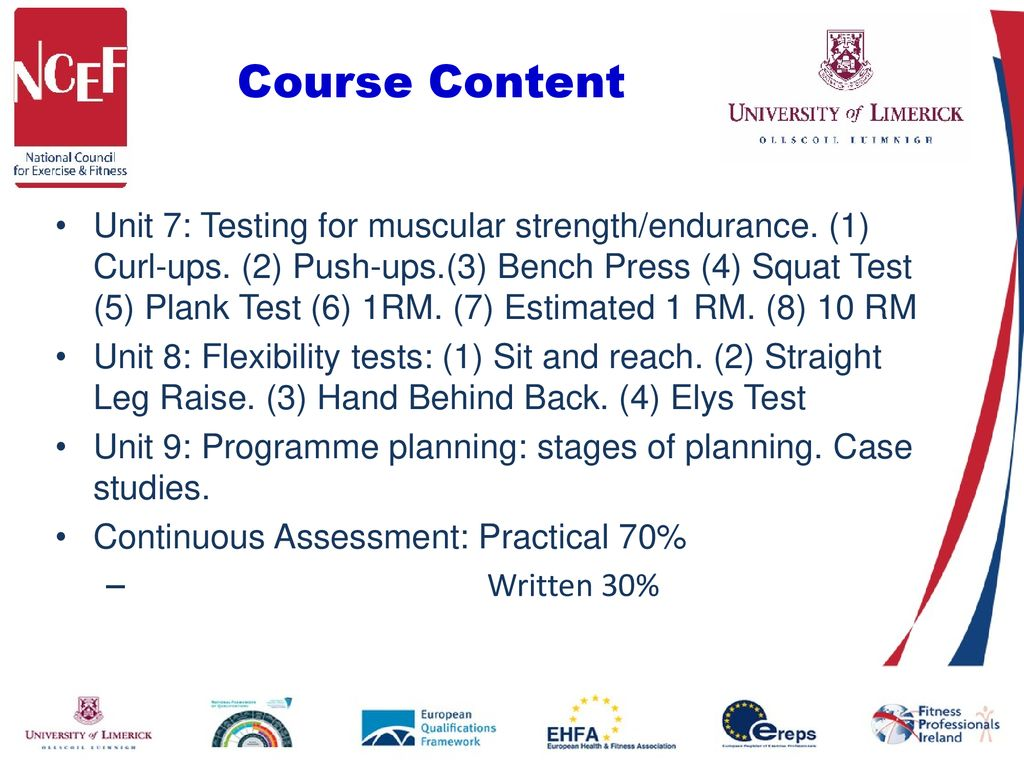 Health Related Physical Fitness Assessment and Programme