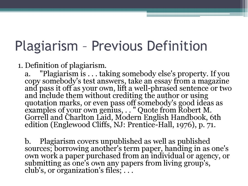k-state's definition of plagiarism - ppt download