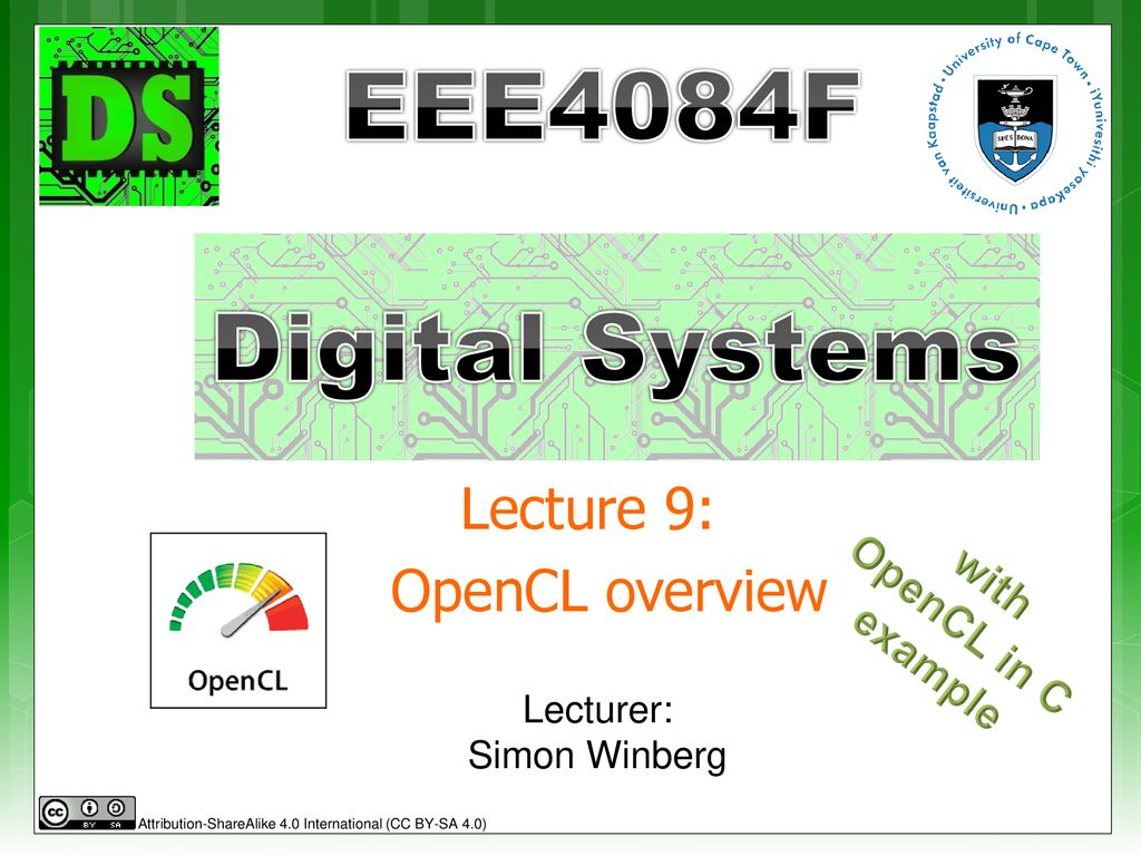 Lecture 9: OpenCL overview - ppt download