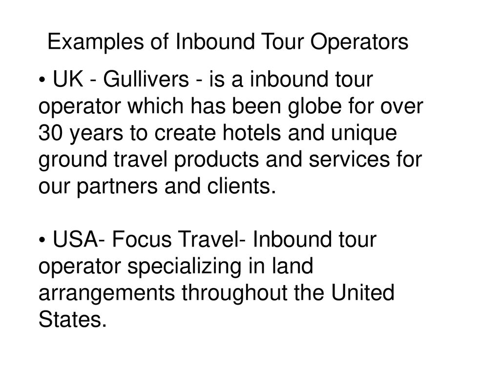 uk inbound tour operators
