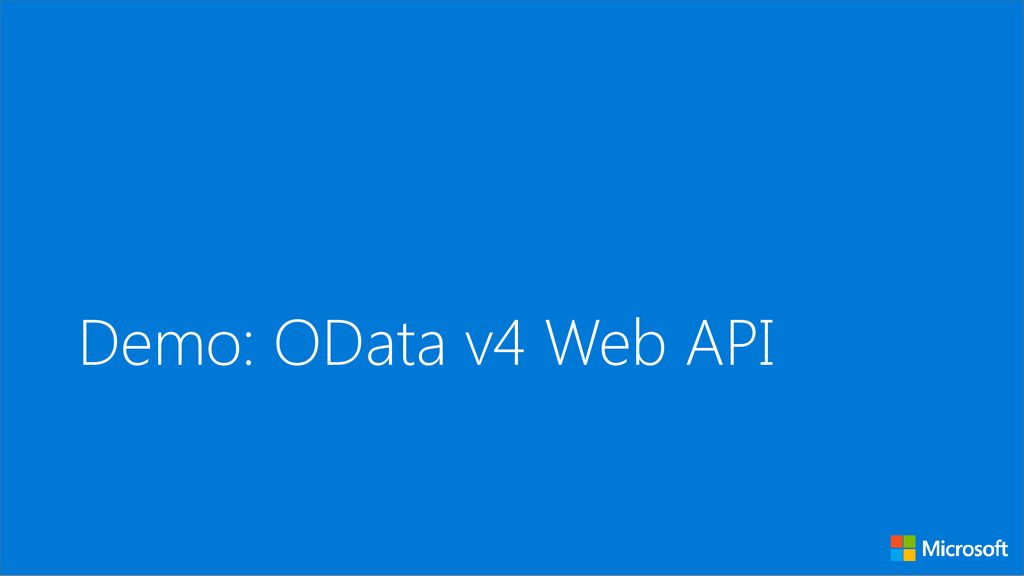 Build a RESTful service with OData - ppt download