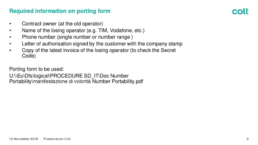 Porting Process : Italy - ppt download