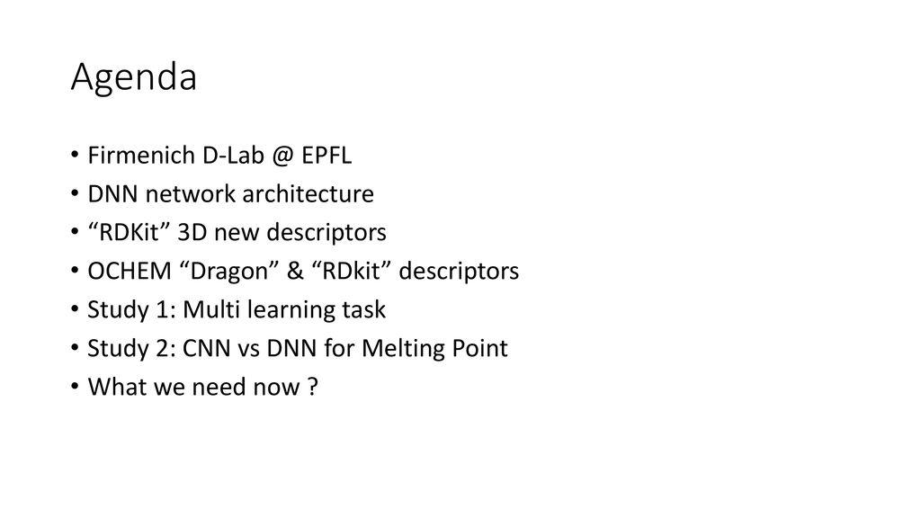 "RDKit (new 3D) descriptors ""a study case"" - ppt download"