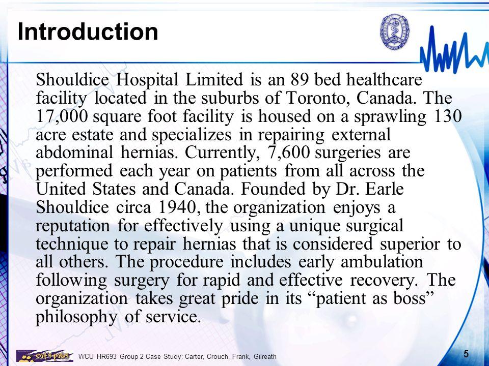 case study shouldice hospital limited