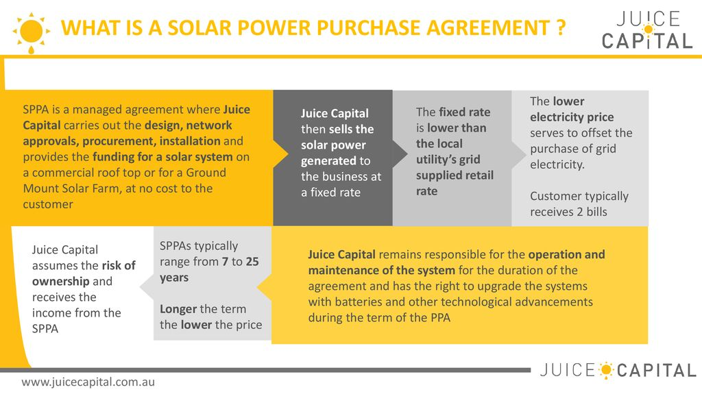 Get The Juices Flowing Solar Power Purchase Agreements Ppt Download