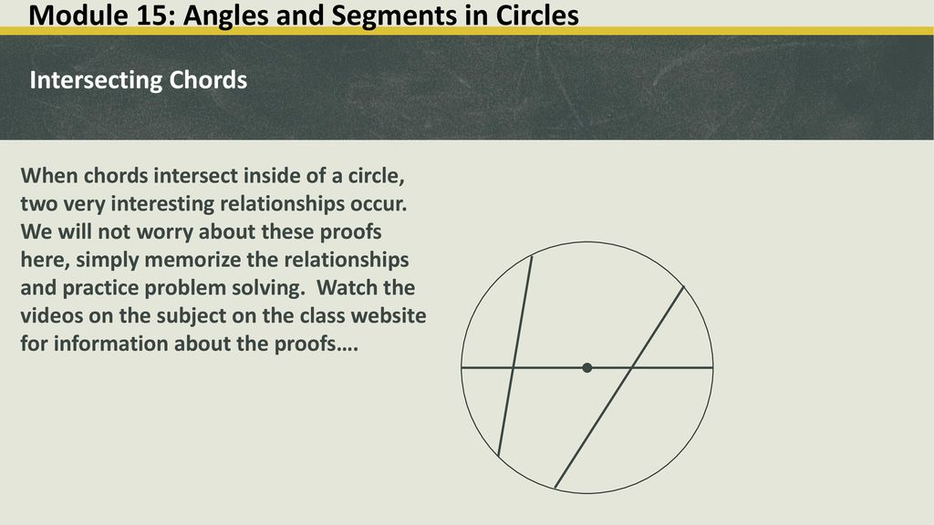 Circles – Modules ppt download