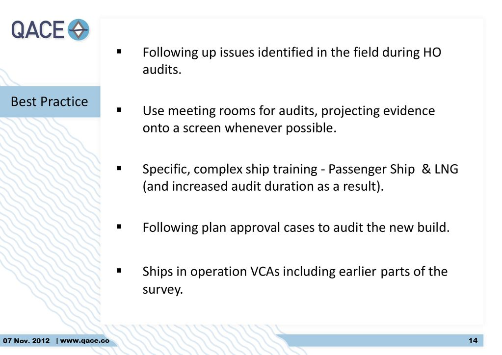 QACE Activity in 2013 Audit Observation Results - ppt download