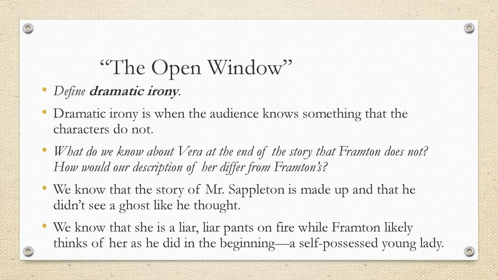 what is the open window about