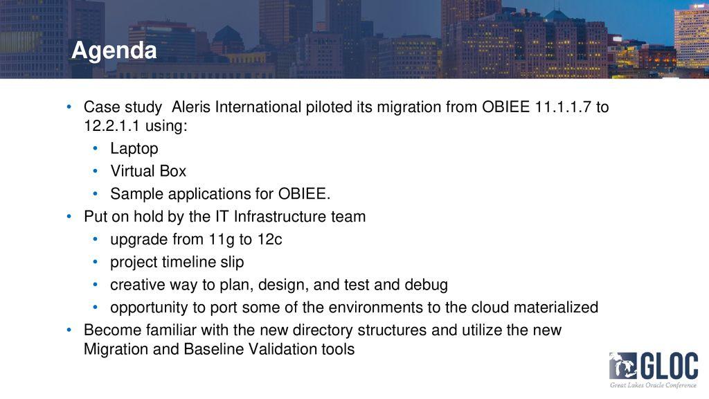 Pilot Your OBIEE 12c Cloud Migration on Virtual Box - ppt