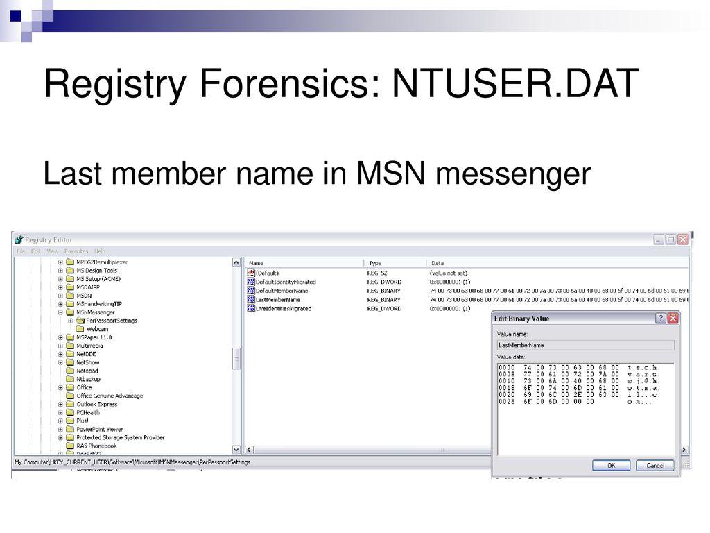 Registry Forensics COEN 152 / ppt download