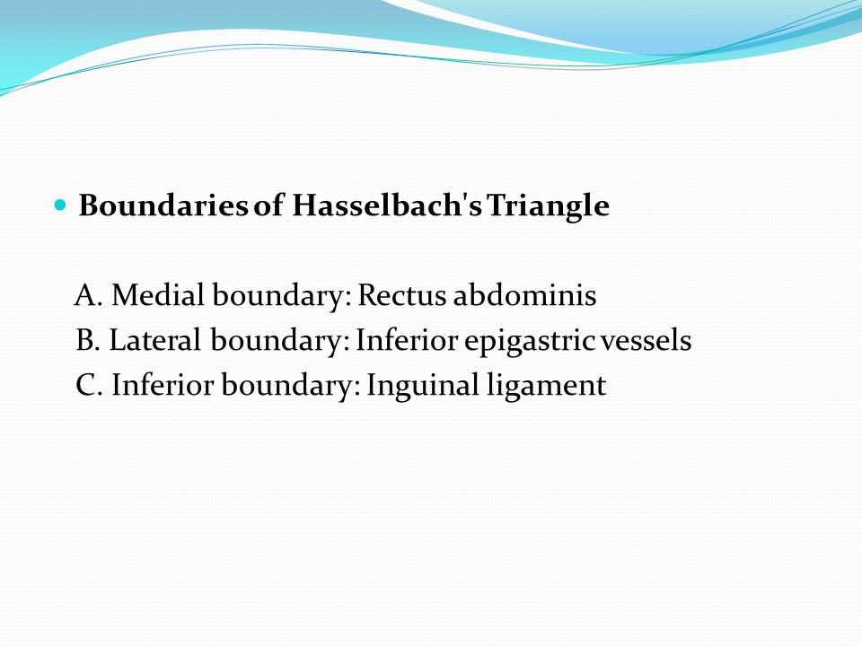 Boundaries of Hasselbach s Triangle