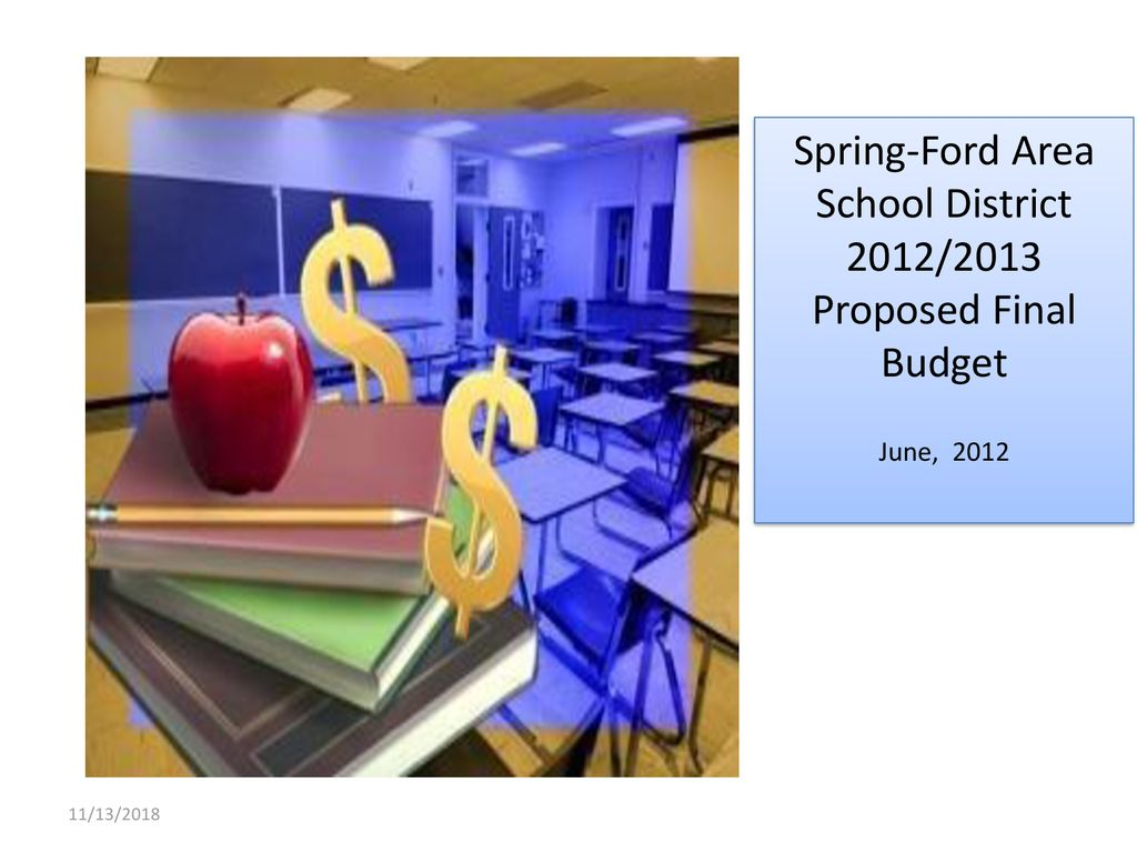 Spring Ford Area School District 2012 2013 Proposed Final
