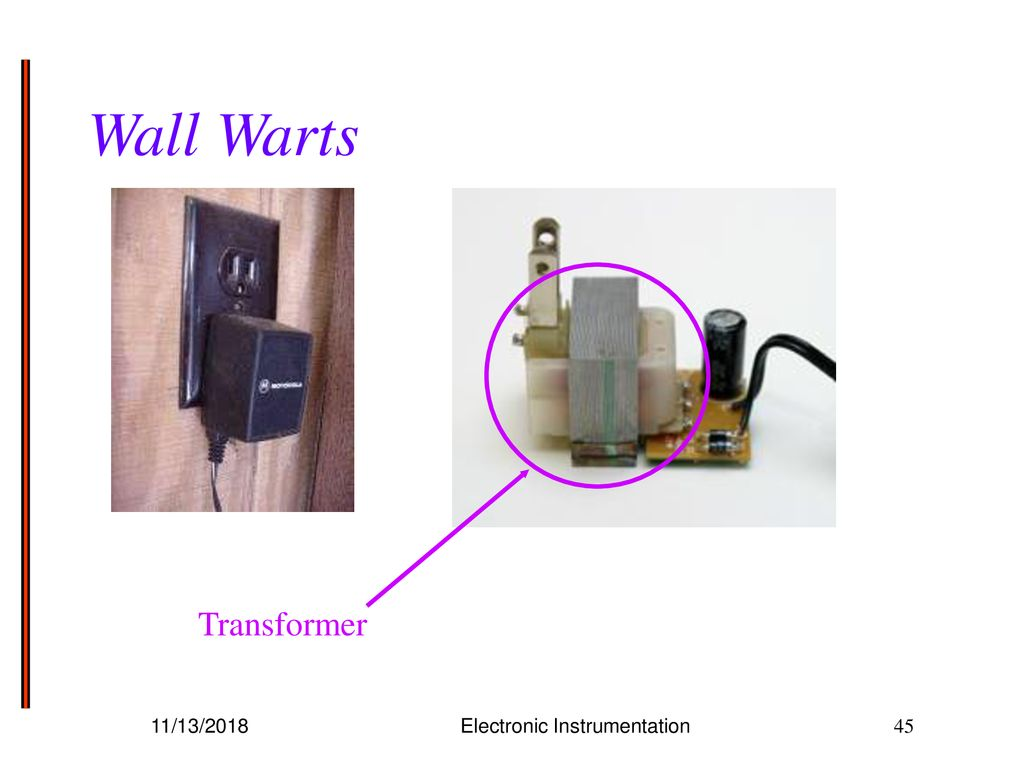 Experiment 3 Part A Making An Inductor Ppt Download Of Wall Warts 038 Transformers 45 Electronic Instrumentation Transformer