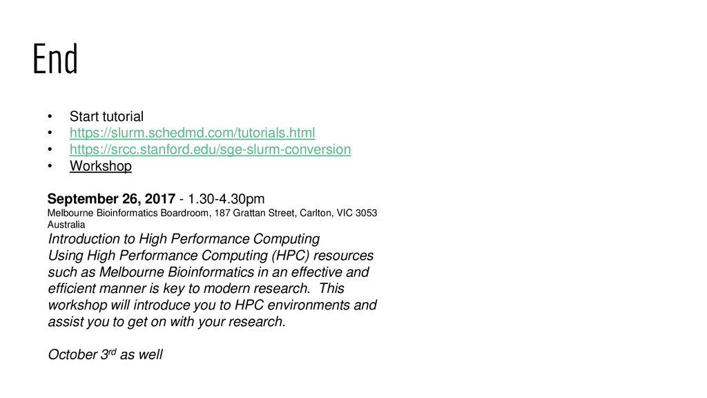 Helix - HPC/SLURM Tutorial - ppt download