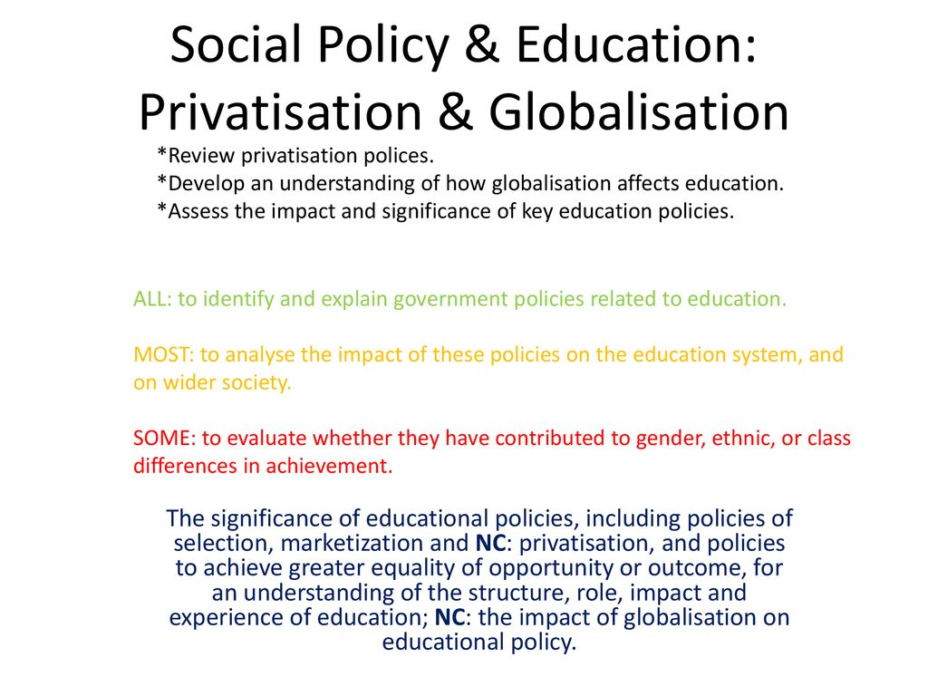 globalisation and its impact on education