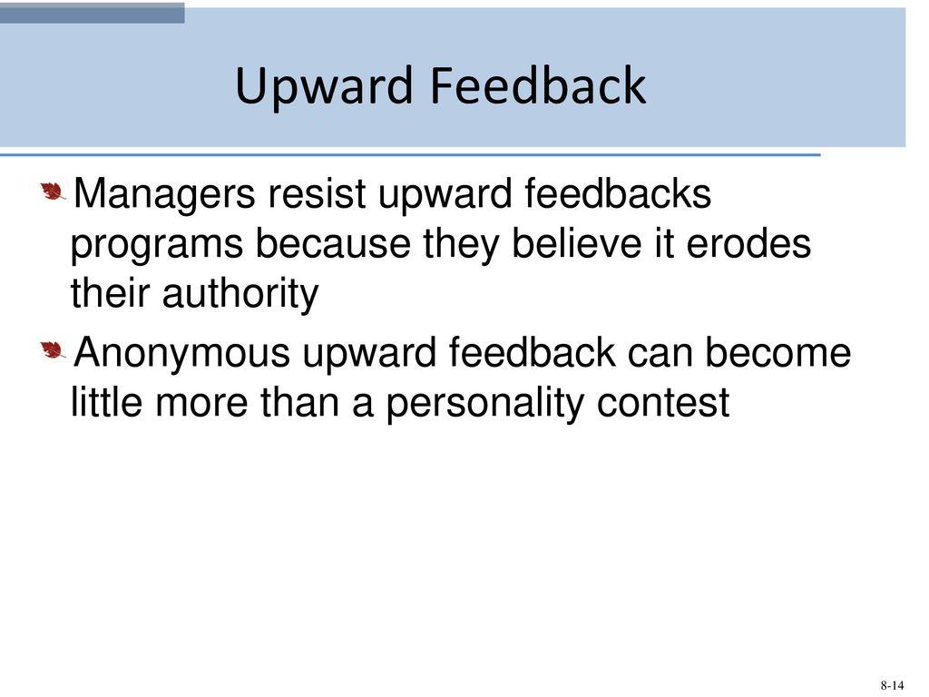 Anonymous upward feedback