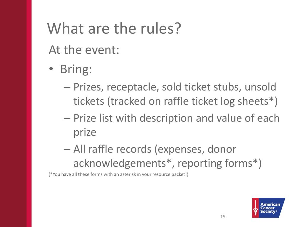 raffle fundraisers what you need to know ppt download