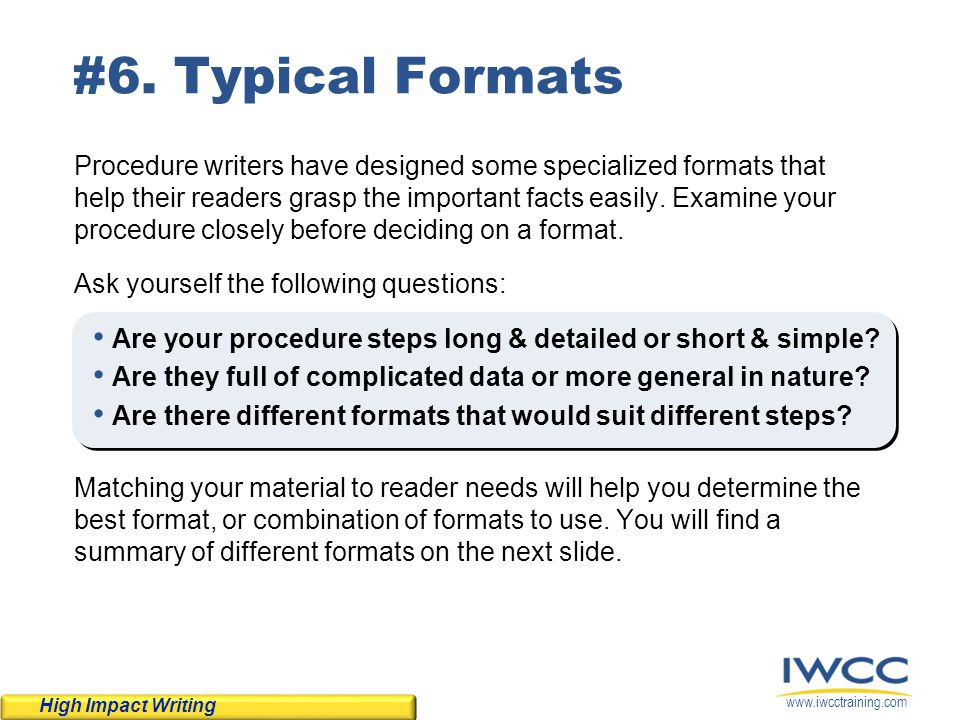 Tips Techniques For Writing Effective Procedures