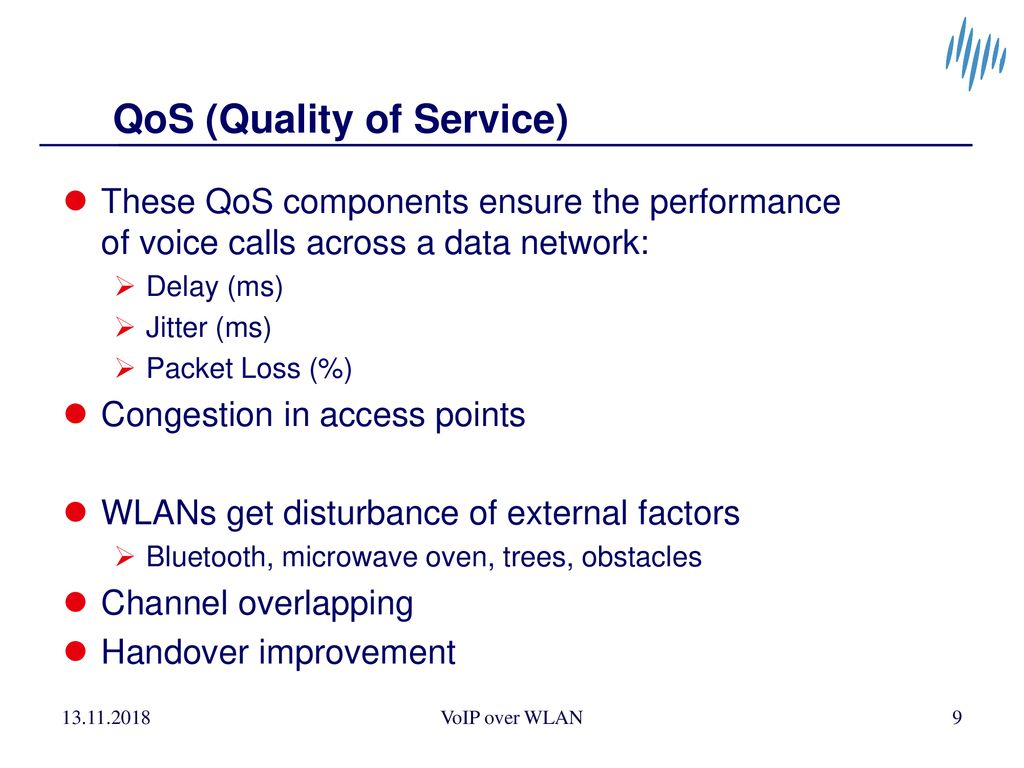 VoIP over WLAN (Voice over IP over Wireless Local Area