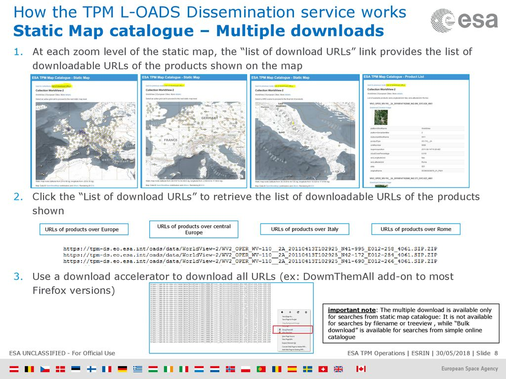 TPM Online Dissemination Service through L-OADS User Manual - ppt
