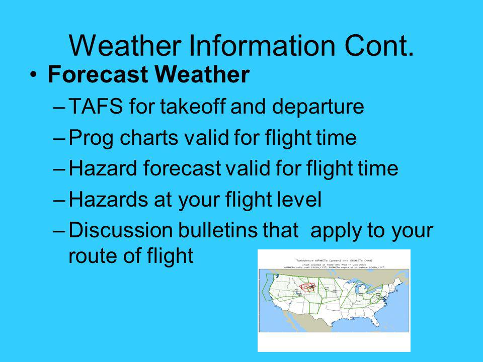 Weather Information Cont.