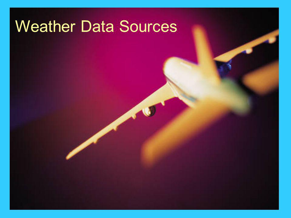 Weather Data Sources