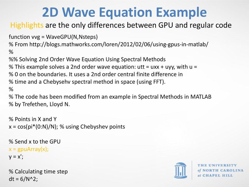Parallel & GPU computing in MATLAB ITS Research Computing