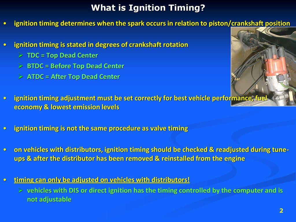 Ignition Timing R  Bortignon  - ppt download