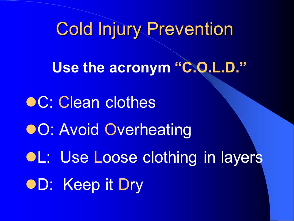COLD WEATHER INJURY PREVENTION IN AFGHANISTAN - ppt download