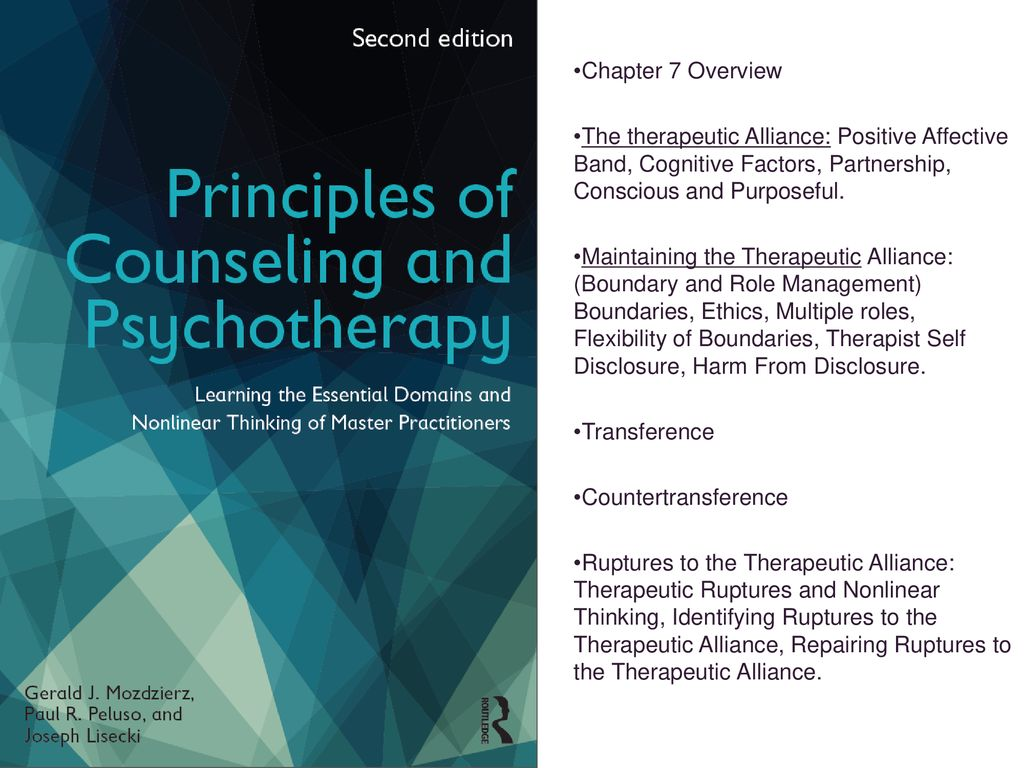 Understanding the Principles of Counseling and Psychotherapy