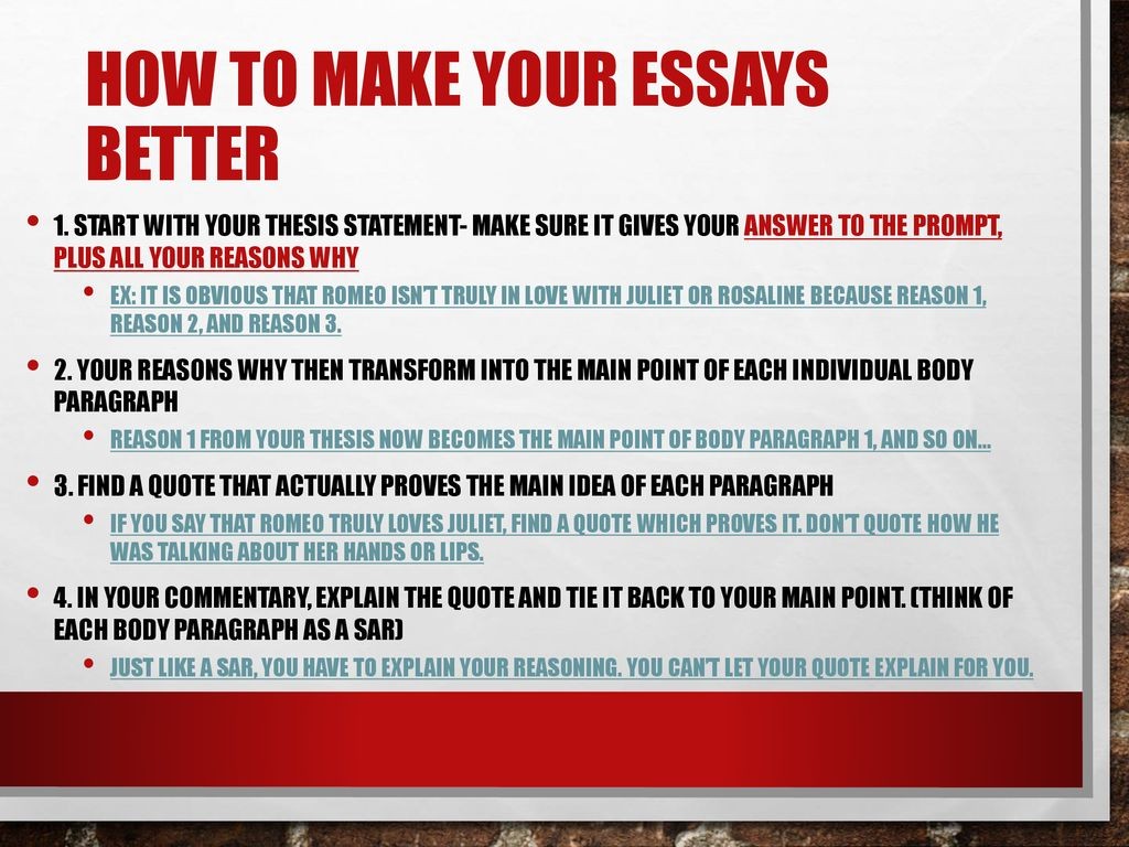 Healthy Food Essays How To Make Your Essays Better Should The Government Provide Health Care Essay also What Is A Thesis Statement In A Essay Essay Outlines A Debriefing  Ppt Download Poverty Essay Thesis