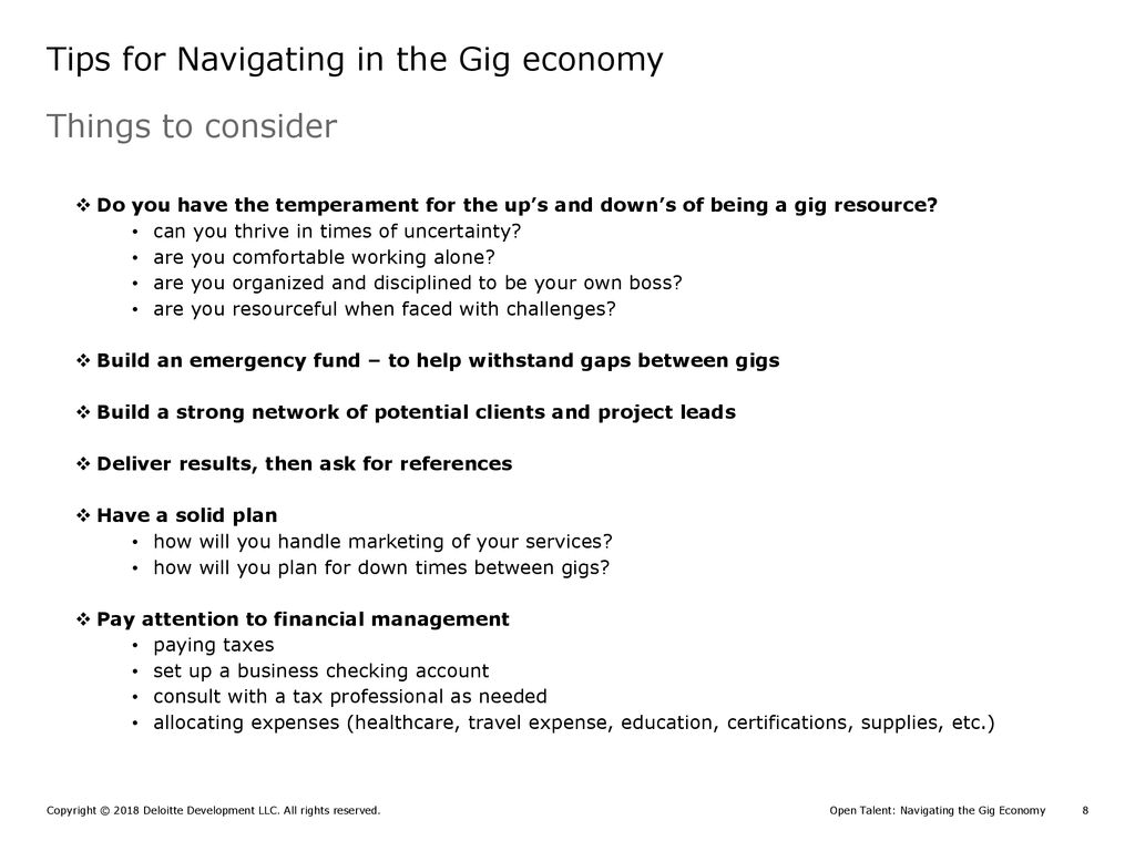 Open Talent Navigating the Gig Economy - ppt download