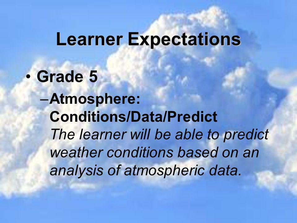 Learner Expectations Grade 5