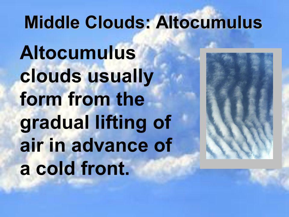 Middle Clouds: Altocumulus