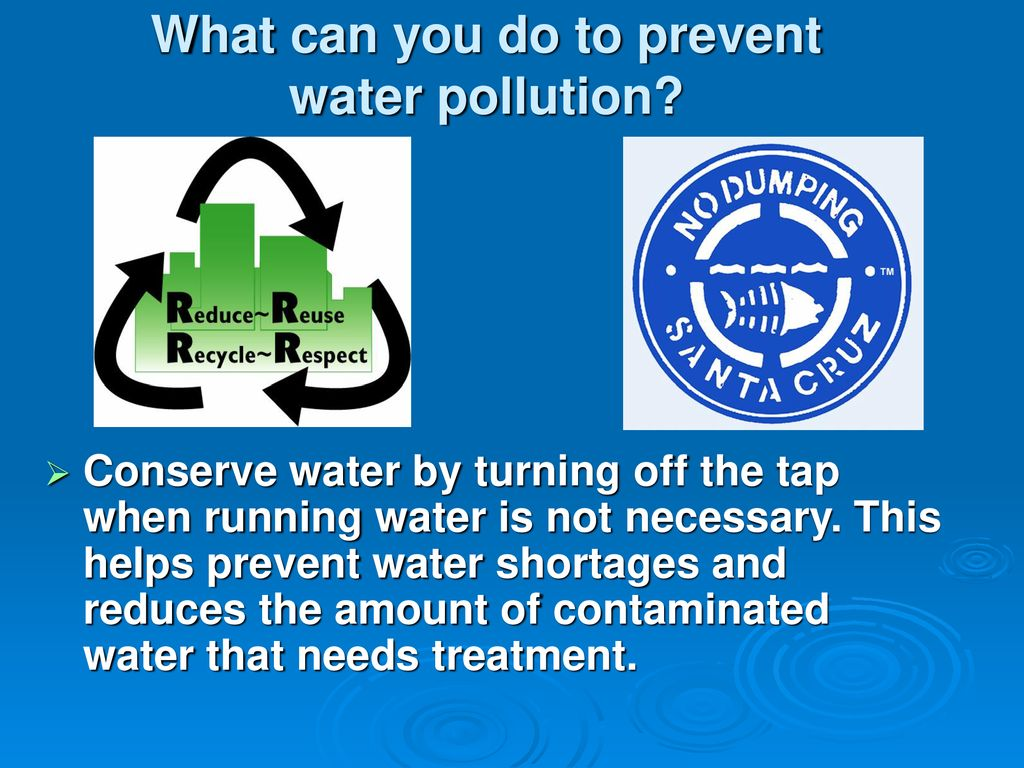 How recycling helps prevent water pollution