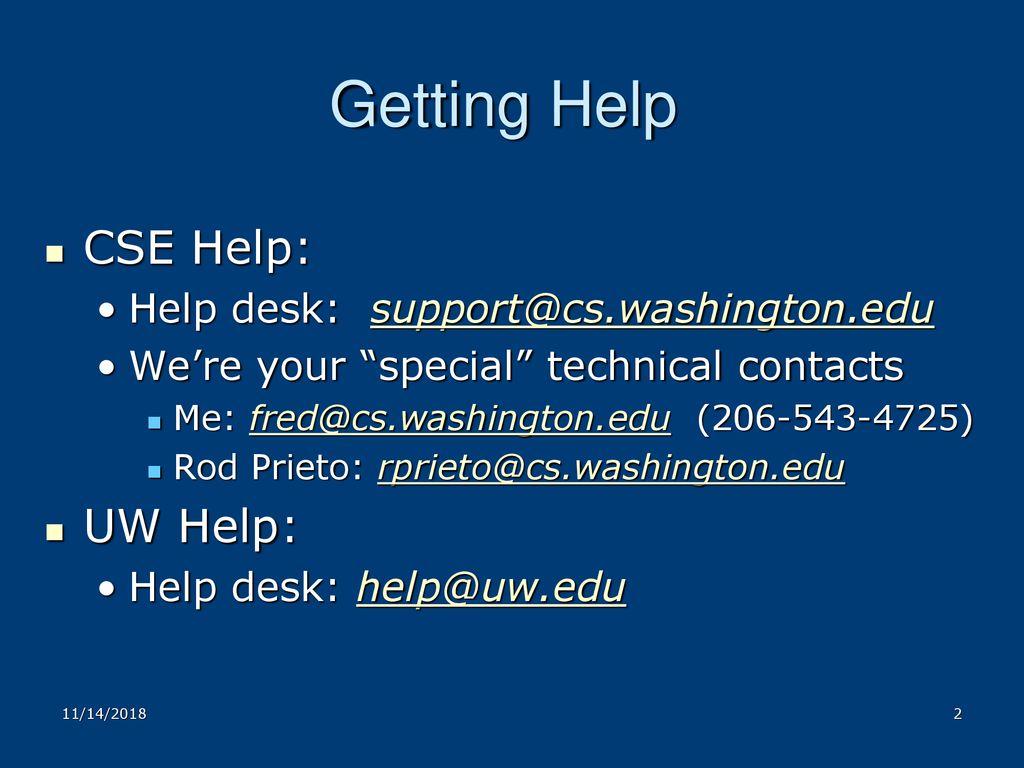 Uw Help Desk