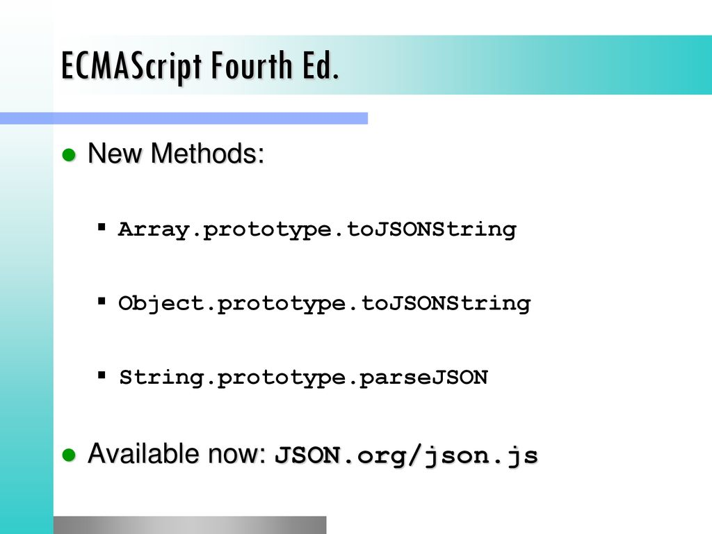 JSON The Data Transfer Format of the Stars - ppt download