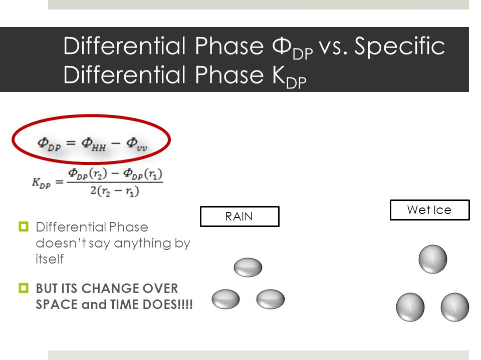 Differential Phase ΦDP vs. Specific Differential Phase KDP
