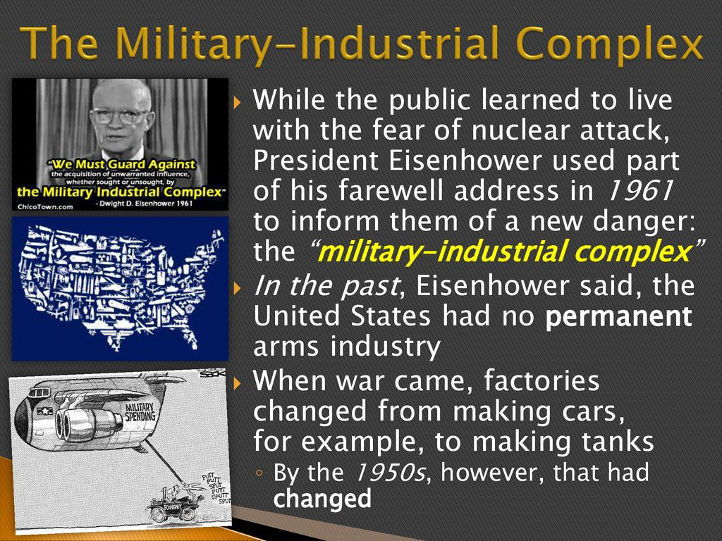 military industrial complex example