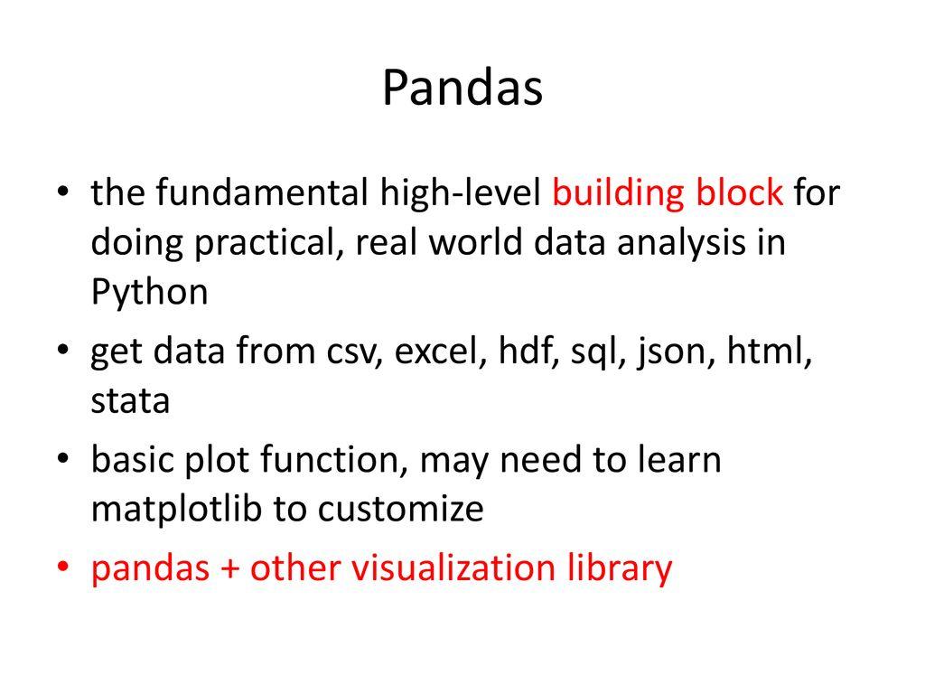 Python Visualization Tools: Pandas, Seaborn, ggplot - ppt download