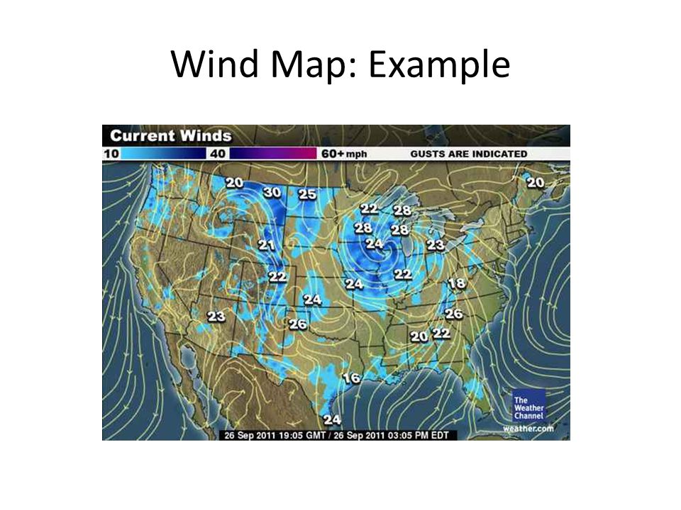 Wind Map: Example
