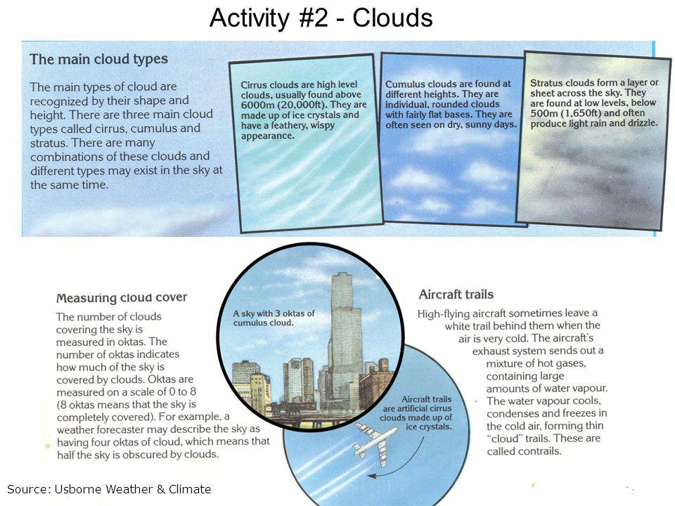 Activity #2 - Clouds Source: Usborne Weather & Climate