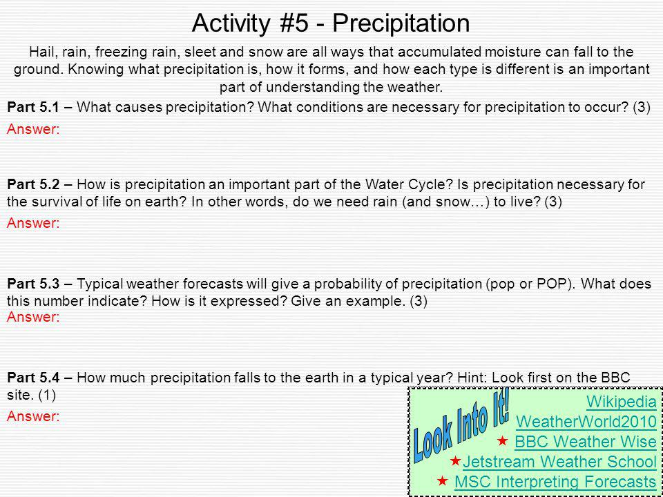 Activity #5 - Precipitation