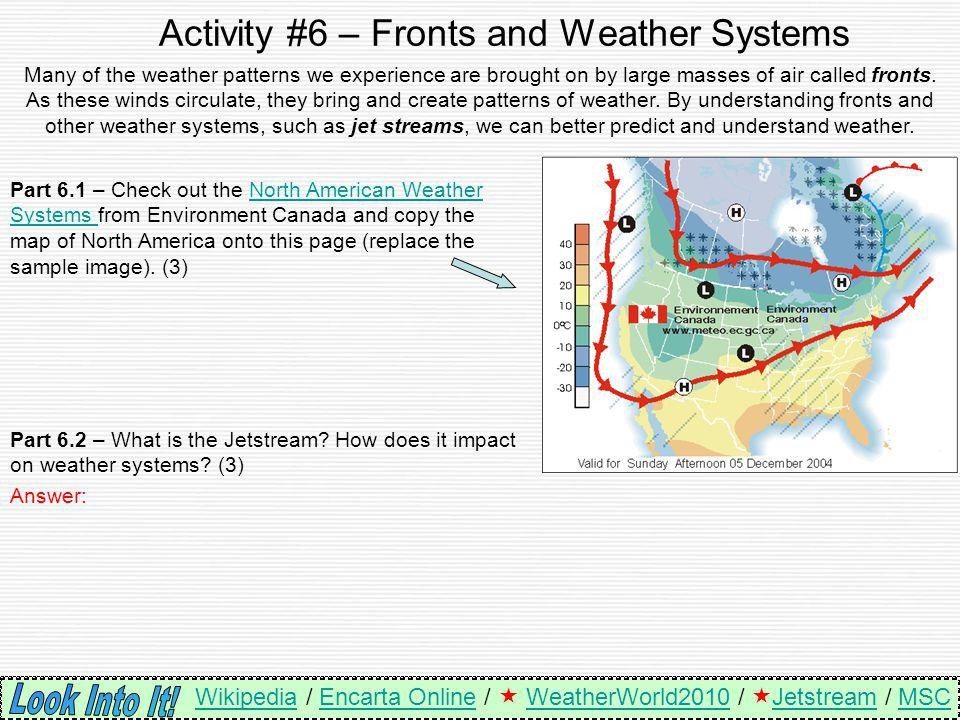 Activity #6 – Fronts and Weather Systems