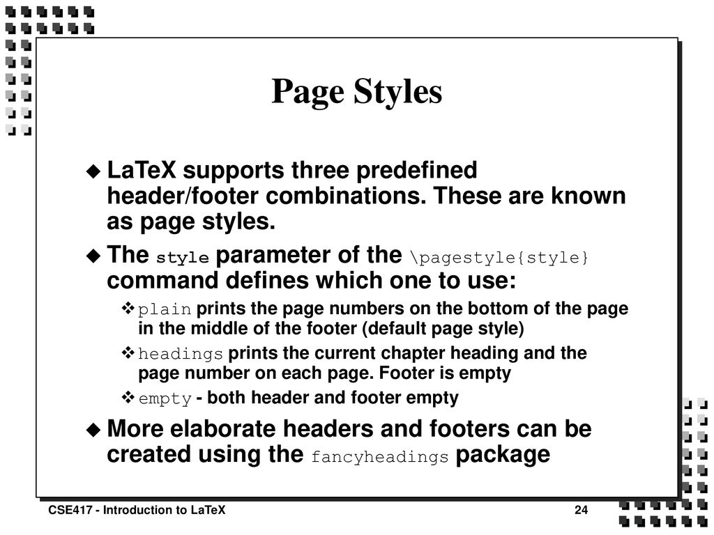 Introduction to LaTeX David Squire - ppt download