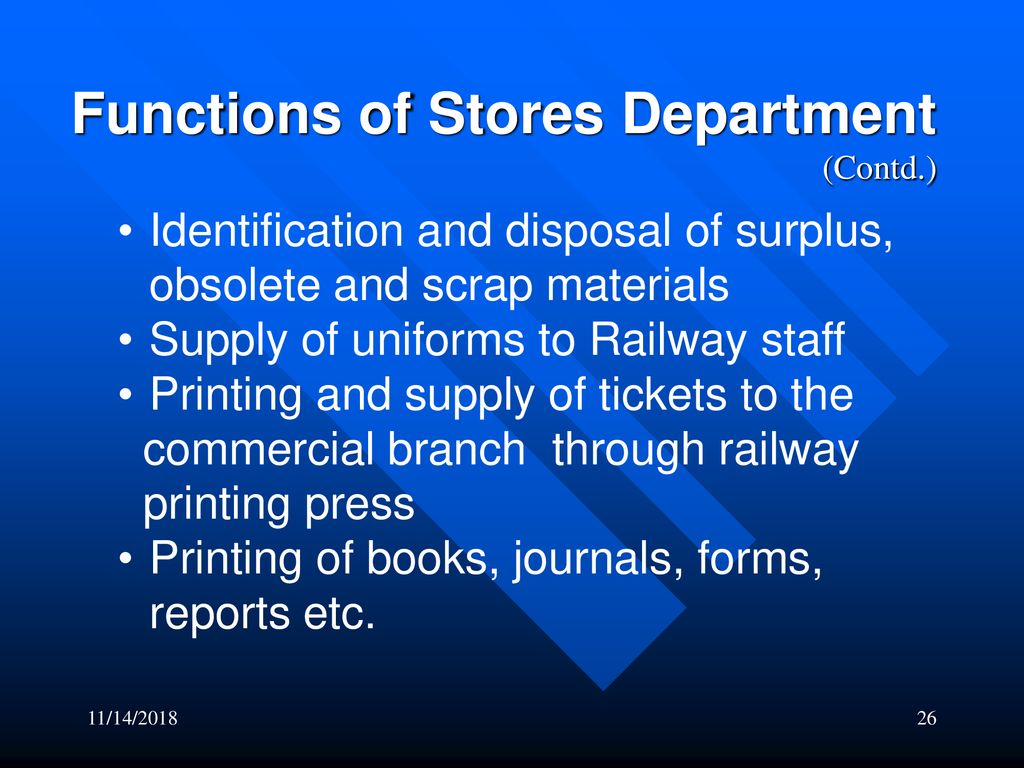 identification of materials in stores