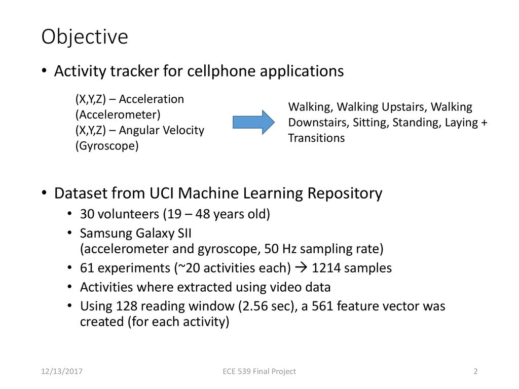 Human Activity Recognition Using Smartphone Sensor Data - ppt download