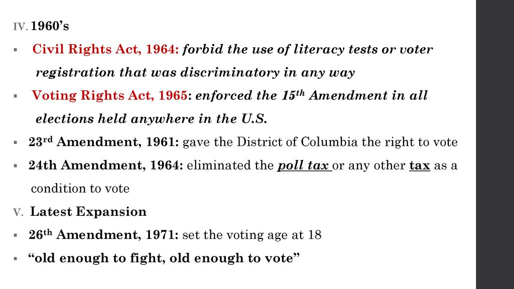 The Right To Vote Ppt Download
