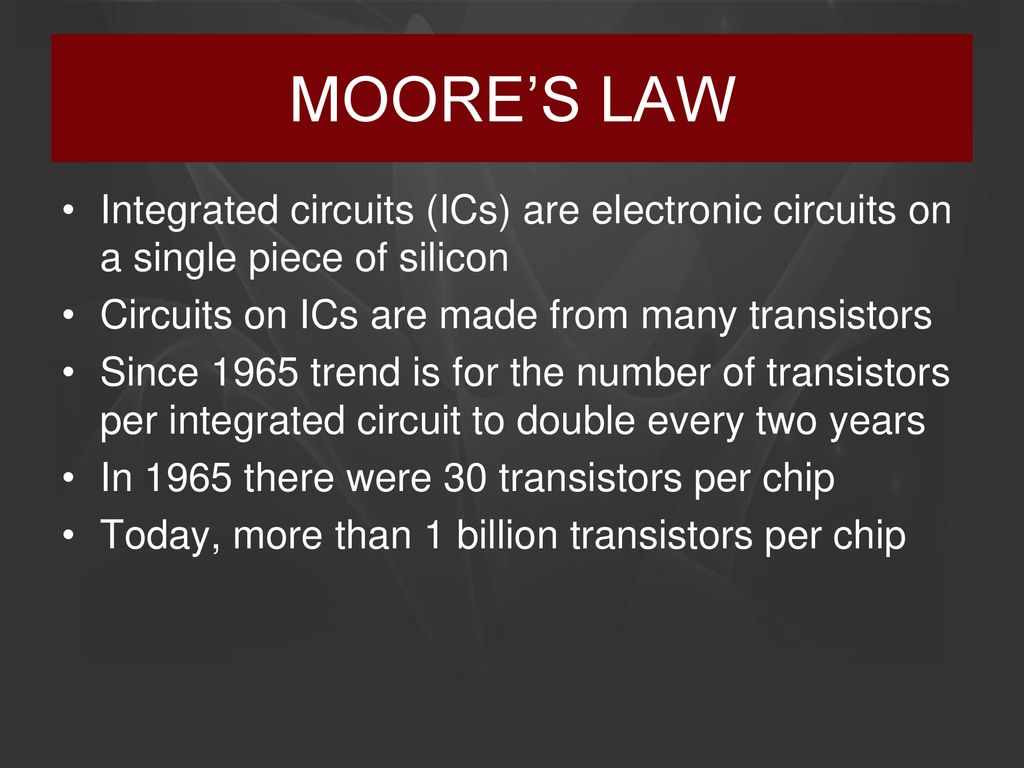 Intro To Tdm And Bum Top Down Manufacturing Ppt Download Integrated Circuit Transistors Manufacturers Moores Law Circuits Ics Are Electronic On A Single Piece Of Silicon